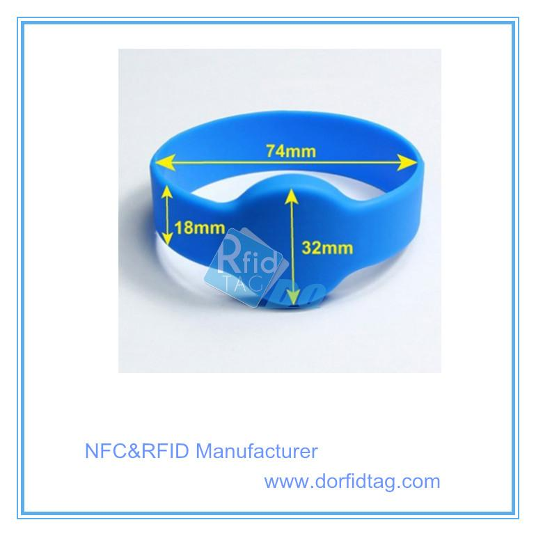 ECO-Friendly 125khz silicone rfid wristband