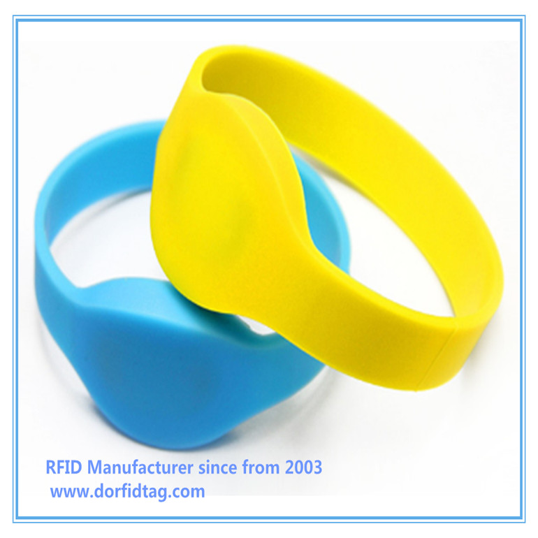 Waterproof RFID13.56MHZ MF1K S50 Wristband Bracelet for Access Control Sport Event Hearth Care Child Tracking