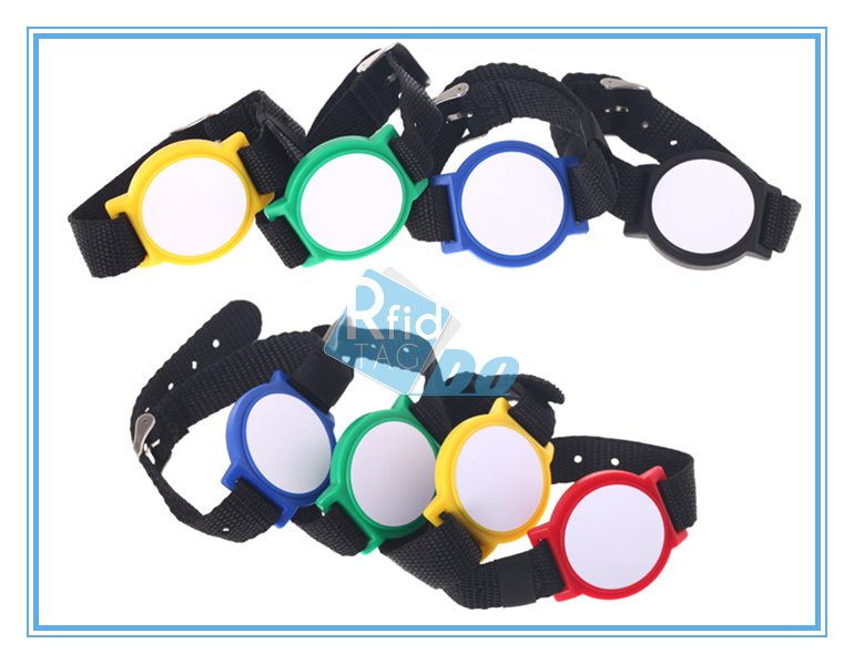 13.56Mhz RFID nylon Wristband for payment system