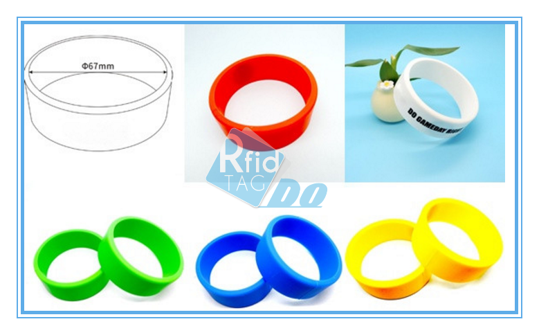 Access management RFID smart silicone bracelet
