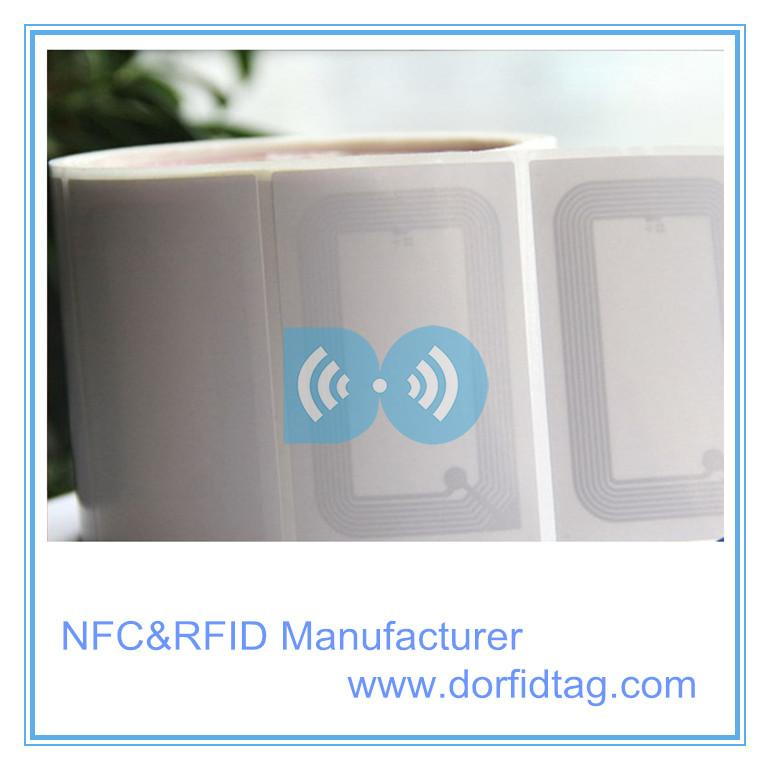 HF RFID Label 13.56mhz Mifare 1k RFID chip RFID label manufacturer