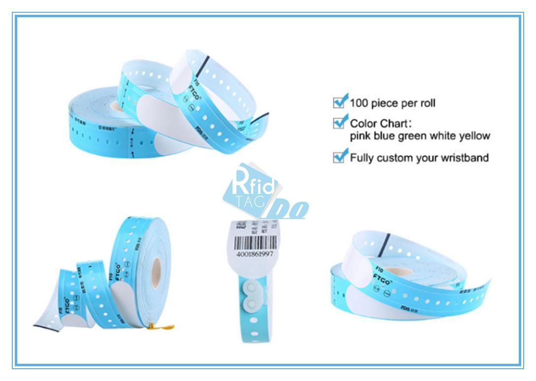 Event Access Control MIFARE Ultralight C Disposable thermal printable wristband