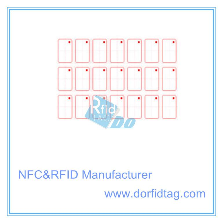 Mifare desfire rfid inlay glossy finished pvc card core material