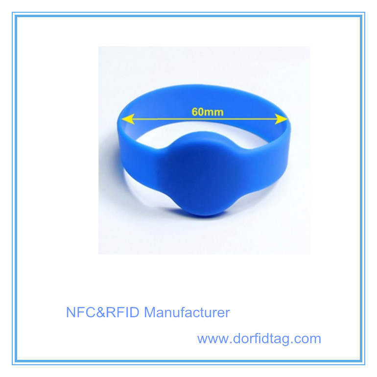 LOGO Printing waterproof silicone Ntag215 NFC wristband
