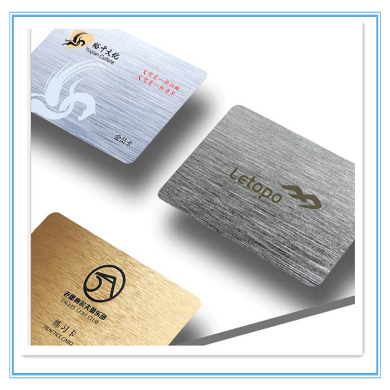 China Supplier  gold wire drawing metal Membership Metallic Brushed Finishing Card