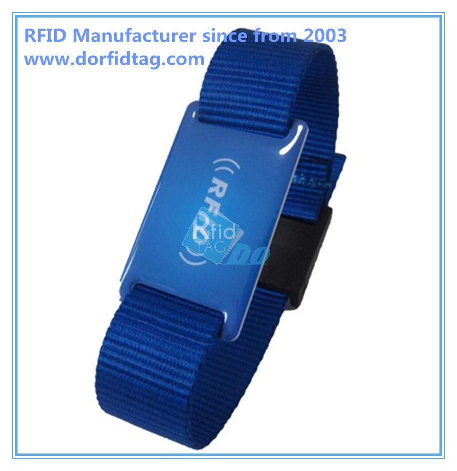 Hot Selling RFID Fabric Festival Bracelet cloth wristbands