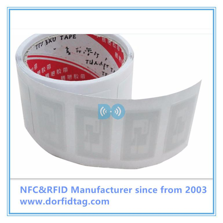 Small HF 13.56mhz ISO15693 I CODE SLI RFID Paper library Label