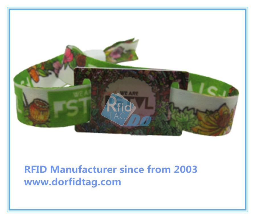 Popular and stylish custom rfid fabric woven wristband
