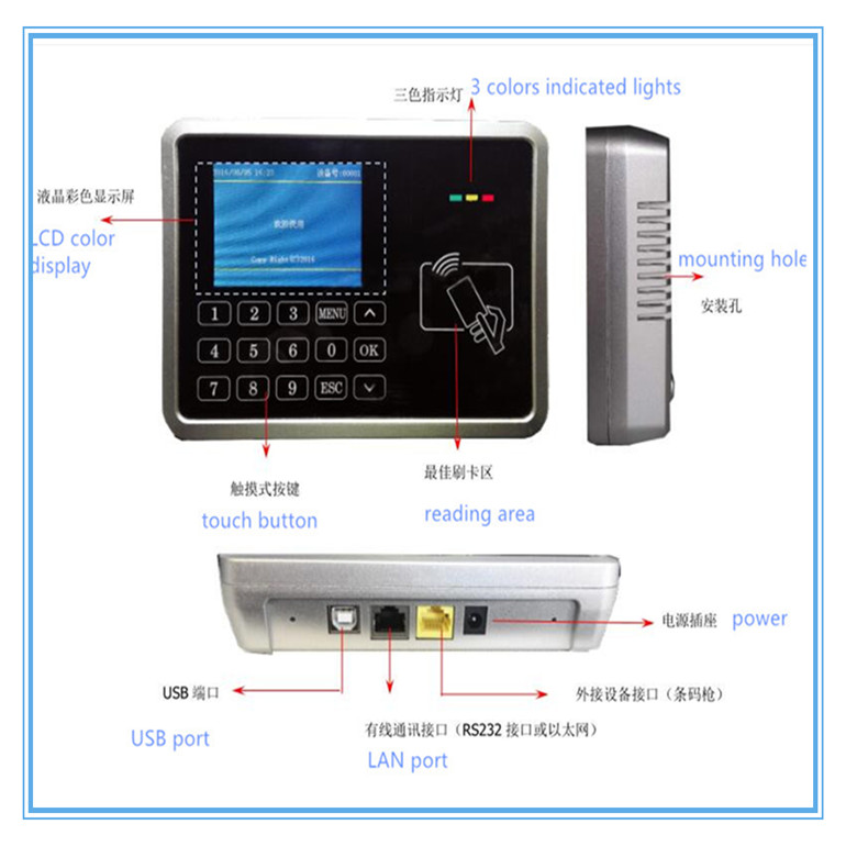 RFID data collector RFID reader for apparel industry