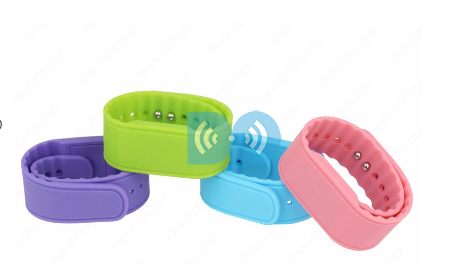 Swimming Pool Programmable Rfid Wristband Waterproof 13.56Mhz