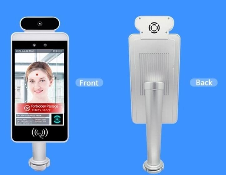 face recognition with thermometer Mult-language Body Temperature Measurement Face Recognition Terminal