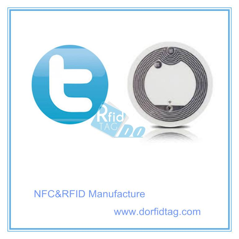 Twitter Follow NFC Tag