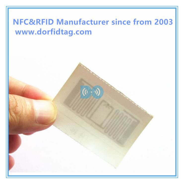 Woven clothing label passive RFID Apparel Tags for clothes / garment inventory