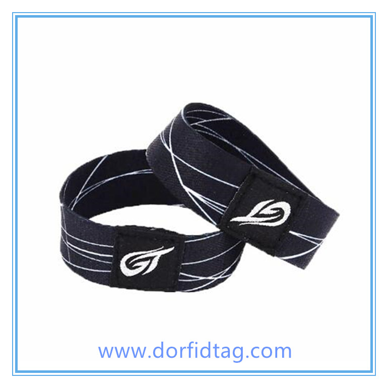 RFID bracelets for events fabric festival wristbands RFID armband