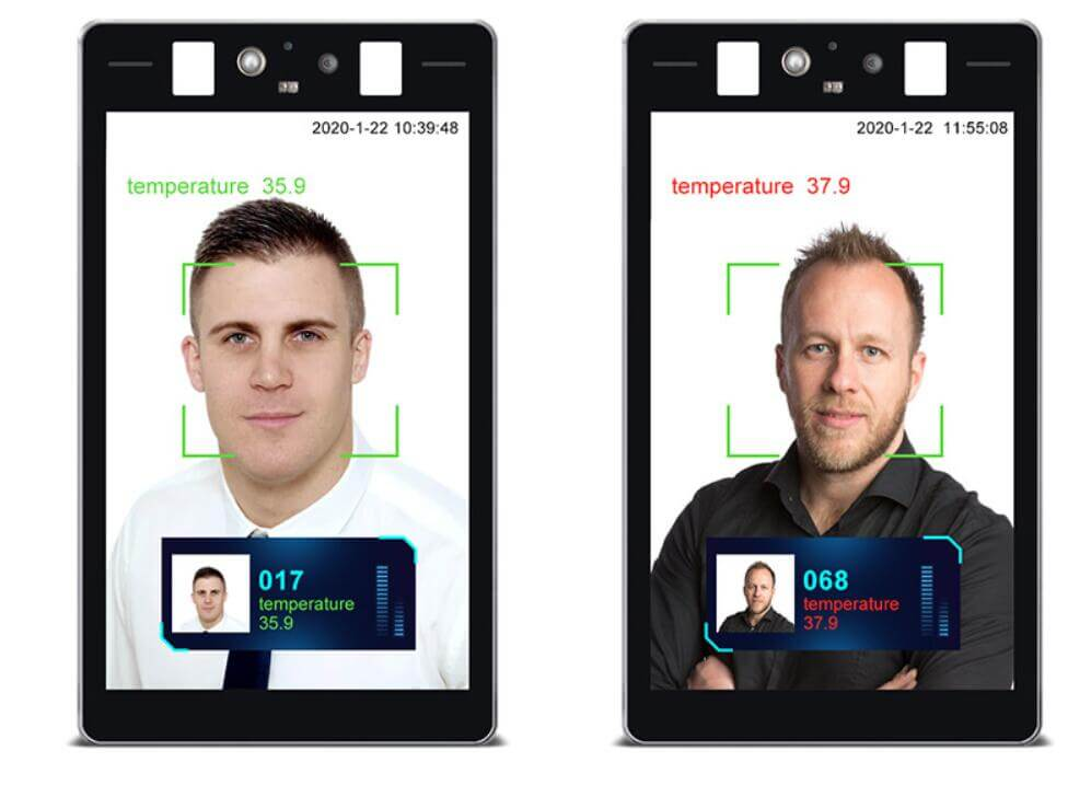 Built-in Infrared Temperature Camera Face Recognition Terminal