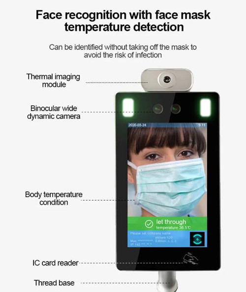face recognition thermometer terminal face recognition thermometer device