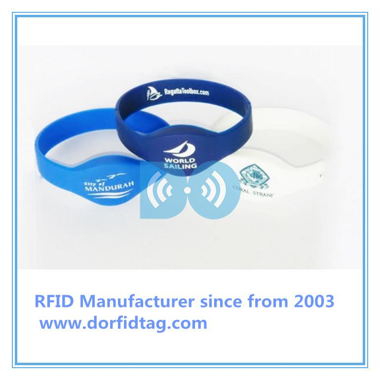 Wristband tickets  hf rfid tags  rfid tag types Chinese RFID silicone wristband manufacturer