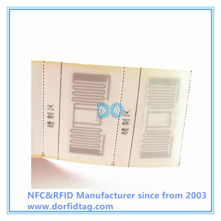 Woven clothing label passive RFID Apparel Tags for clothes