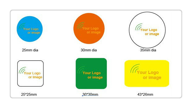13.56MHz Printed NFC Sticker Ntag216