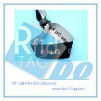 ticketing NFC based identification ICODE SLI RFID textile wristband