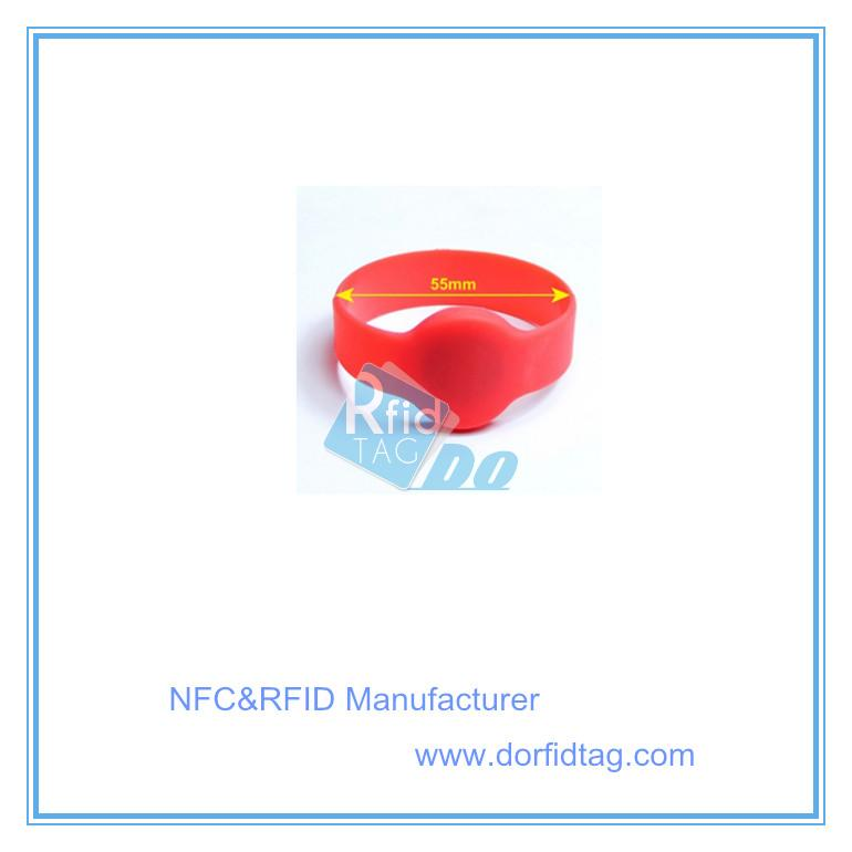 125khz compatible EM4200 TK4100 silicone Wristband