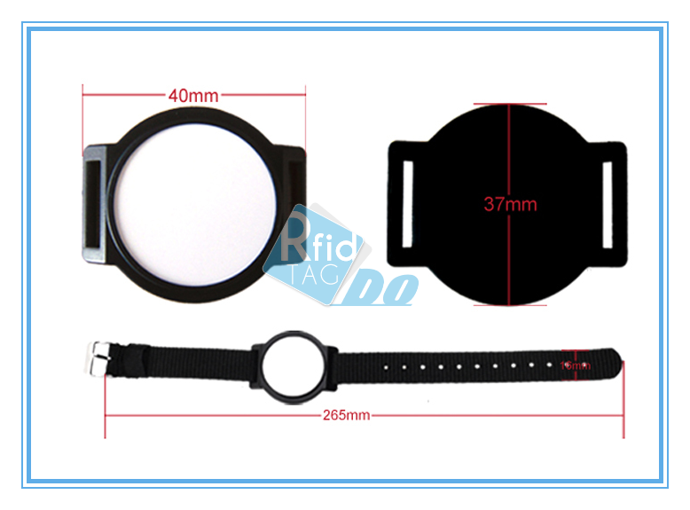 RFID Wristband Options for ABS panel with nylon band