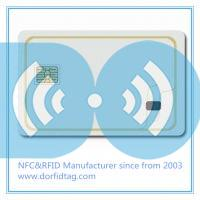 Smart contact card and proximity  rfid combi hybrid card